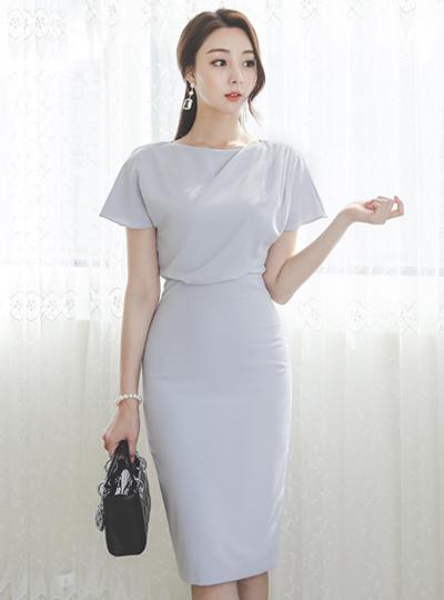 披盖 法式 袖子 弹力 连衣裙