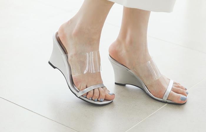 透明 皮条/束带 凉鞋 拖鞋