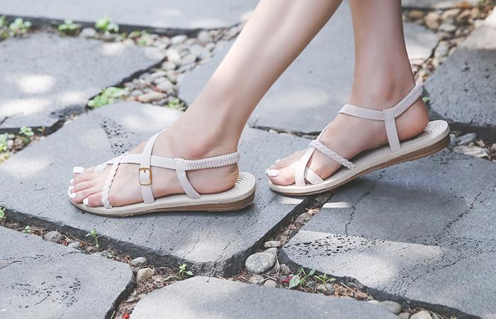 夏天 藤条 皮条/束带 人字拖凉鞋