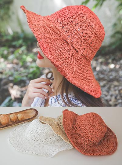 浪漫 蝴蝶结装饰夏季帽子