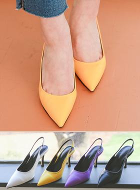 [模特穿36次]独特 色彩艳丽 露跟高跟鞋