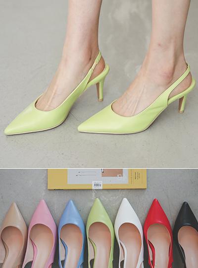 [模特穿36次]日常 简单 颜色 露跟高跟鞋