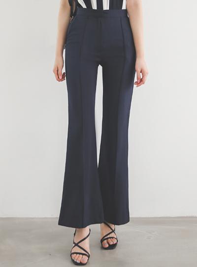 细褶 高腰 休闲风格 喇叭 宽松长裤
