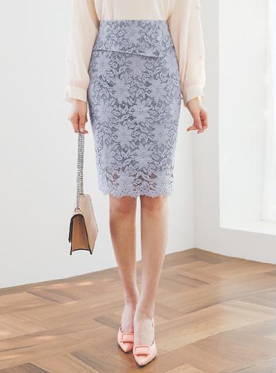 百合 荷叶边 棉 蕾丝 H型裙