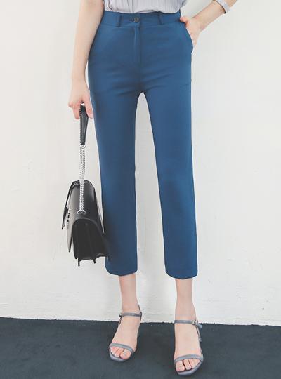 凉爽 缝线 口袋 后侧松紧带 弹力 宽松长裤