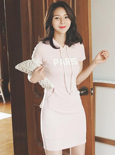 巴黎卫衣运动服连衣裙