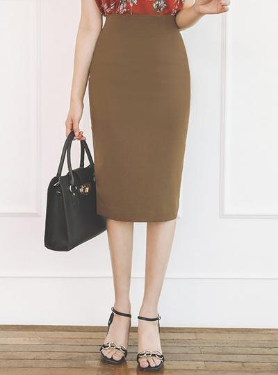 Dart 高腰 弹力 裙子