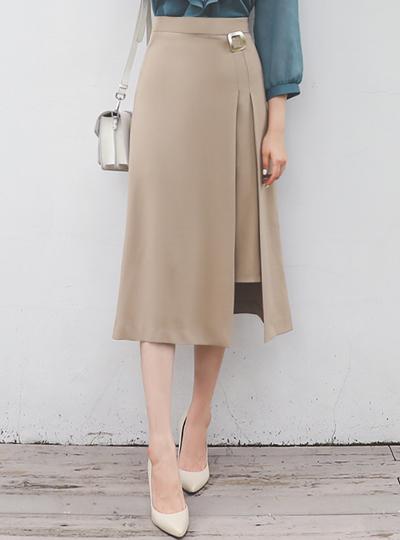 Gold 方形 分层 情调 长款 裙子