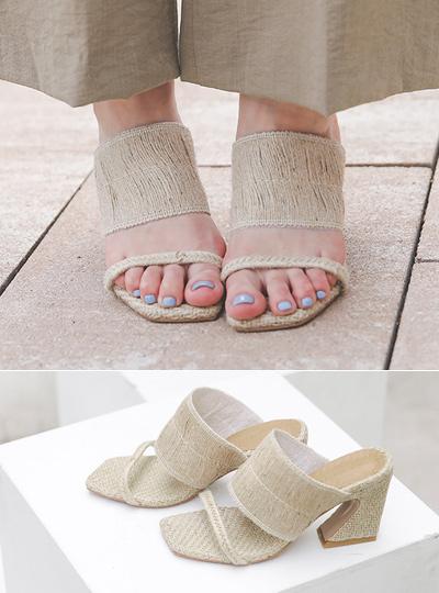 [模特穿37次]自然 藤条 皮条/束带 凉鞋
