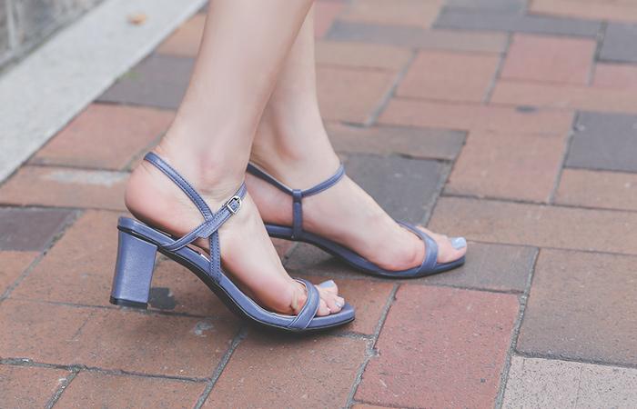 [模特穿37次]都市 颜色 皮条/束带 厚底 高跟凉鞋