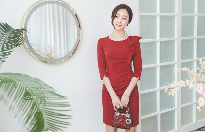 褶裥 褶皱 连衣裙(fall)