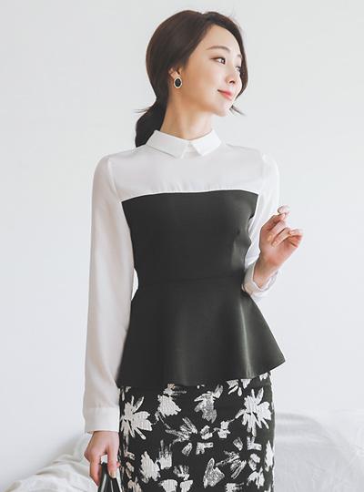 衬衫 分层 喇叭 女衬衫