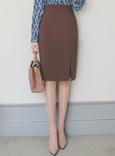 高腰 开叉线条 开衩 裙子