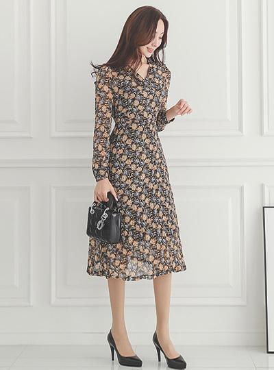 Rosalie 花纹 裹身风格 连衣裙