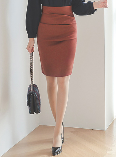简单 折叠 修身 裙子(fall)