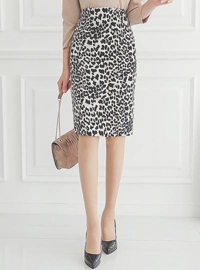 Leopard 高腰 H字型 裙子