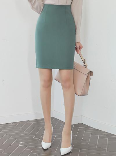 简单 Dart-Line 弹力 修身 裙子