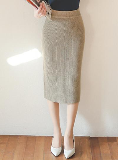 羊毛衫MIDI长裙