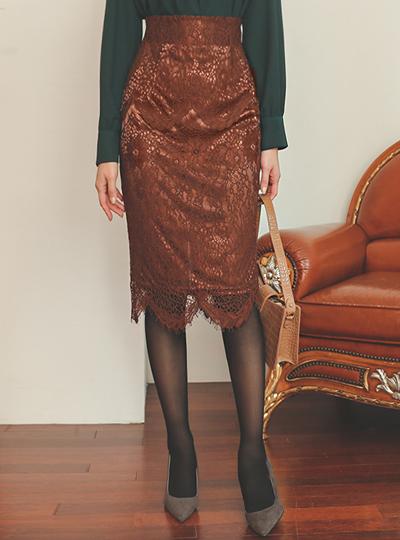 波浪卷 裁剪 弹力 蕾丝 裙子