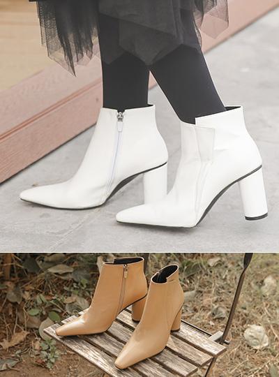 不规则 侧纽 圆形鞋跟 脚踝 靴子