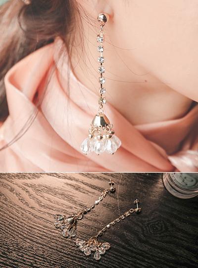 珠串 花纹 长款 耳环
