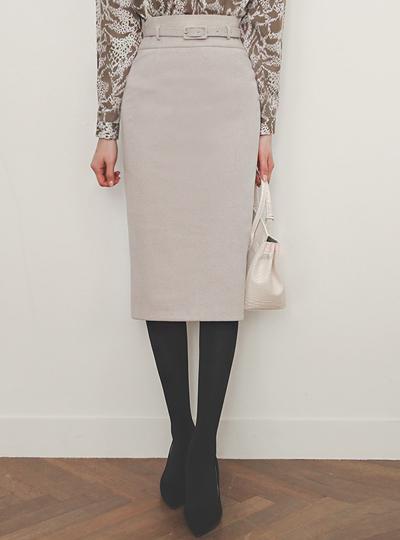 渲染 衬里加绒 束带 弹力 裙子