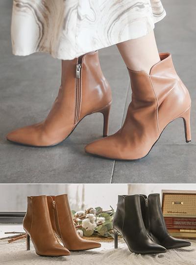 缝线 开衩 尖头线 短靴
