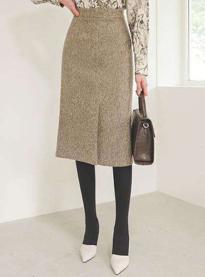 高腰 渲染 开衩线条 中长 裙子